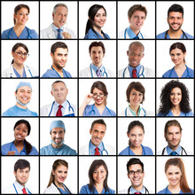 Large Collection Of Doctors Fa...