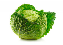 Green Savoy Cabbage Vegetable ...