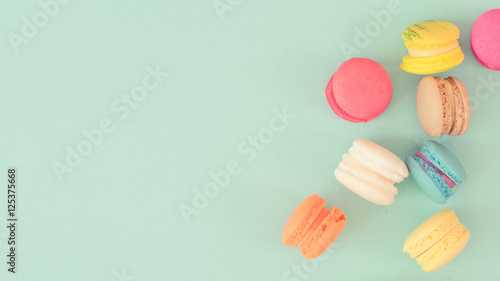 Photo sur Toile Macarons Colorful macaroons