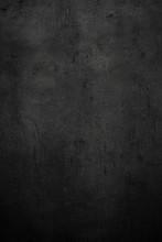 Empty Black Concrete Stone Sur...