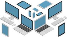 Isometric Vector Set Of Comput...