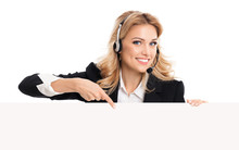 Phone Operator In Headset Show...