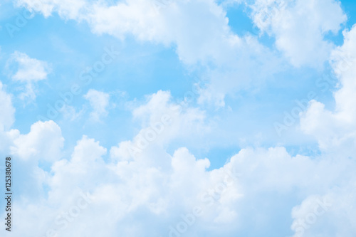 Beautiful Blue sky and cloud for background.