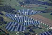 Aerial View Of Photovoltaic So...