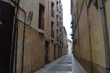 Narrow Street Between Houses.