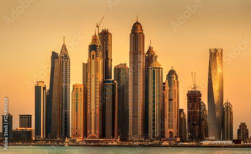 Photo  Dubai Marina bay, UAE