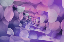 Purple Kaleidoscope Blurry Abstract Background.