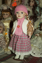 Toy Doll Girl In Winter Clothi...