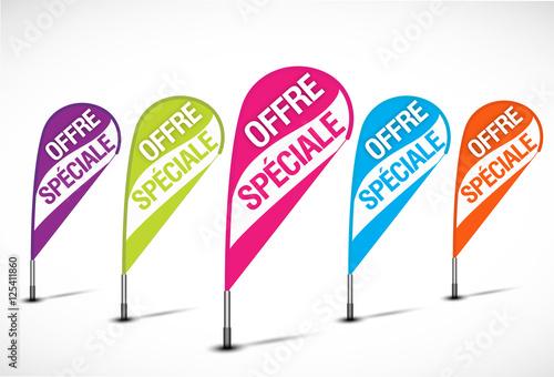 bannières flottantes multicolores : offre spéciale Canvas-taulu