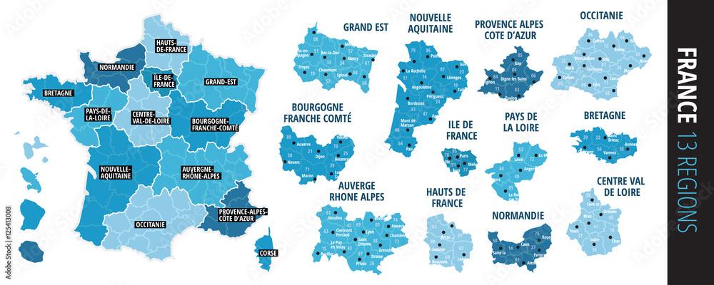 Fototapeta régions france