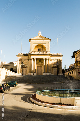 Foto op Aluminium Florence Facade of St Joseph Church in Kalkara Malta