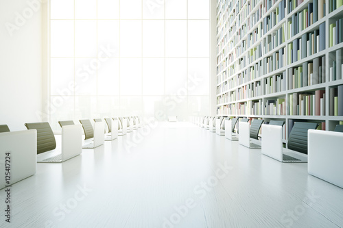 White library table closeup Wallpaper Mural