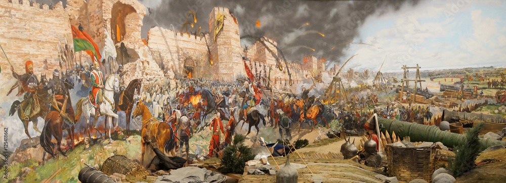 Fototapeta Final assault and the fall of Constantinople in 1453