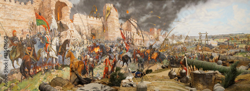 Fotografia, Obraz Final assault and the fall of Constantinople in 1453