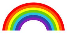 Colorful Trendy Icon Of Rainbo...