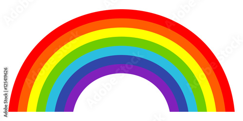 Colorful trendy icon of rainbow . Vector illustration Fototapeta