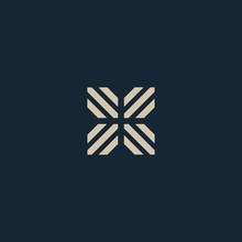 Unusual Geometric Letter X. Architecture Vector Logo. Isolated Monogram.