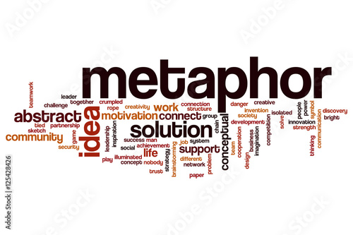 Fotografía  Metaphor word cloud