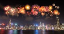 Fireworks Festival Over Hong K...