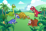 Fototapeta Dinusie - Dinosaur in a wild