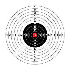 FototapetaDarts game in the target center