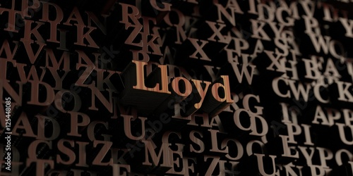 Photo Lloyd - Wooden 3D rendered letters/message