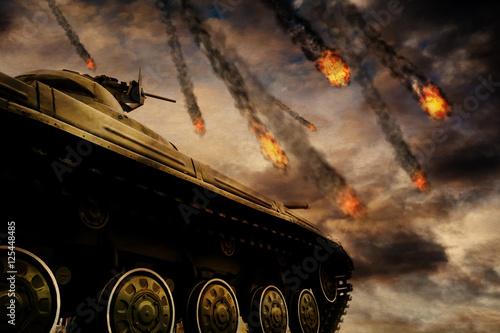 czolg-wojskowy-na-polu-bitwy