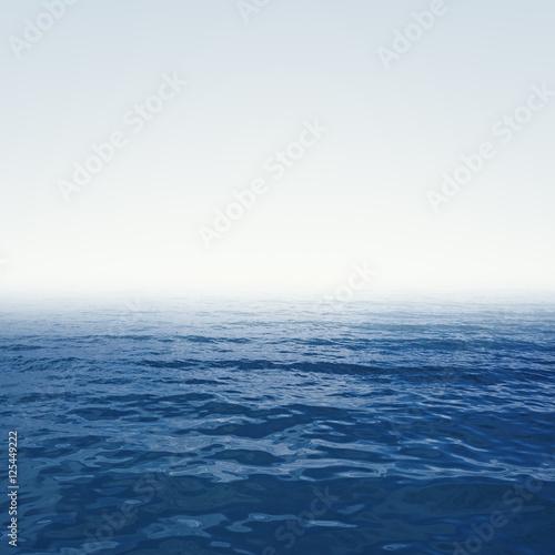 blue deep ocean with waves © Alex