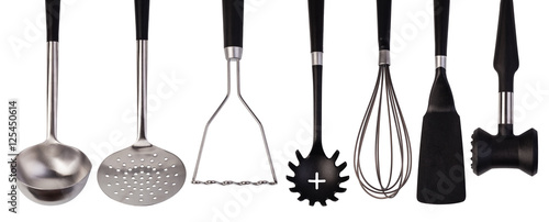 Fotomural  set of stainless steel kitchenware