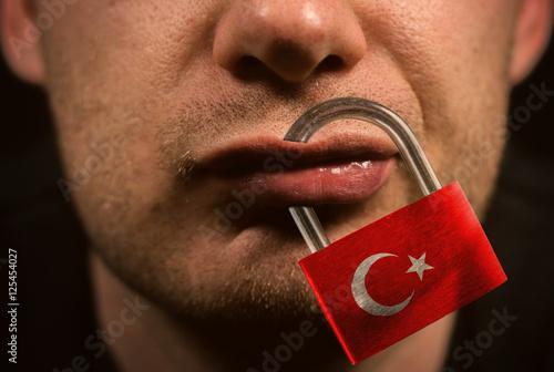 Fotografie, Obraz  Einschränkung der Redefreiheit Türkei