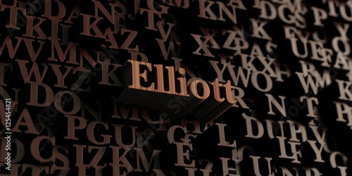 Photo  Elliott - Wooden 3D rendered letters/message