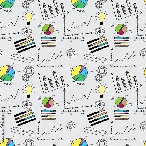 Tapety do gabinetu doodle-finanse-wzor