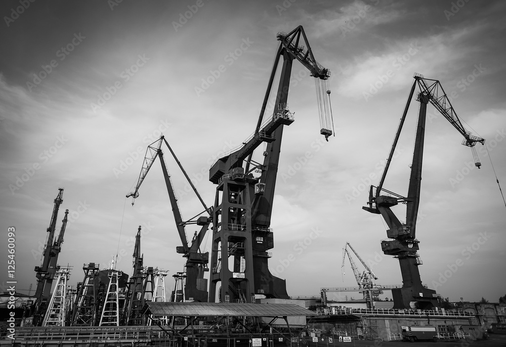 Fototapety, obrazy: Stocznia w Gdańsku, Polska