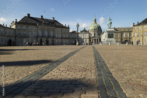 Photo  Square of Amalien Castle Copenhagen Denmark