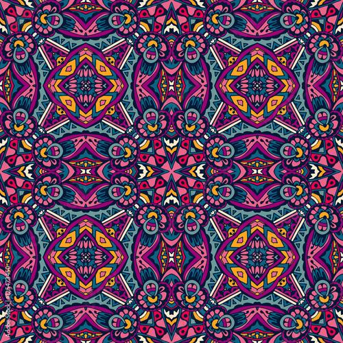 Naklejki witrażowe kolorowy-kwiatowy-wzor-bezszwowe-etniczne-ornament