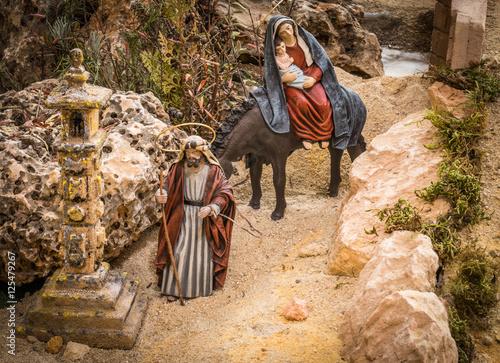 Carta da parati Joseph and Mary
