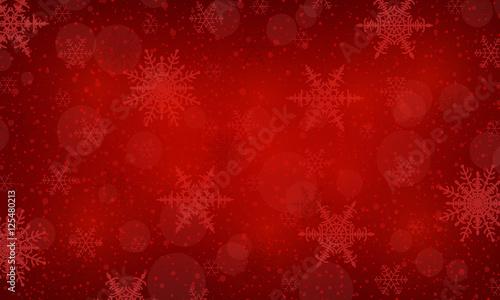 Foto-Doppelrollo - Weihnachtshintergrund Schneestern - Rot (von ii-graphics)
