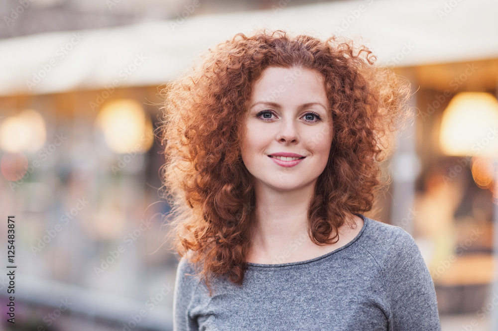 Fototapety, obrazy: Portrait of a beautiful young woman outdoors