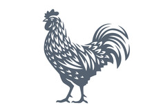 Vector Illustration Of Rooster