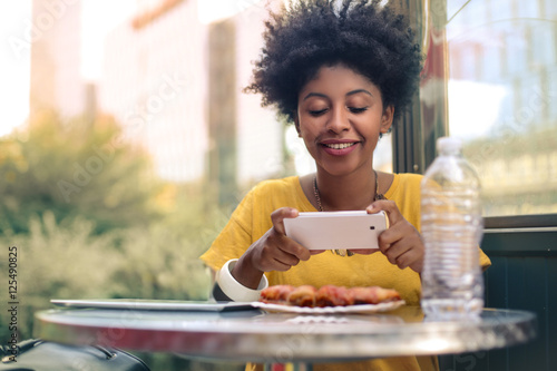 Food photography for social network Wallpaper Mural