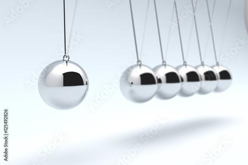 Fotografie, Obraz  Newton's Cradle, Time cradle. 3D illustration