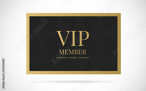 Photographie  Vip member card vector design illustration
