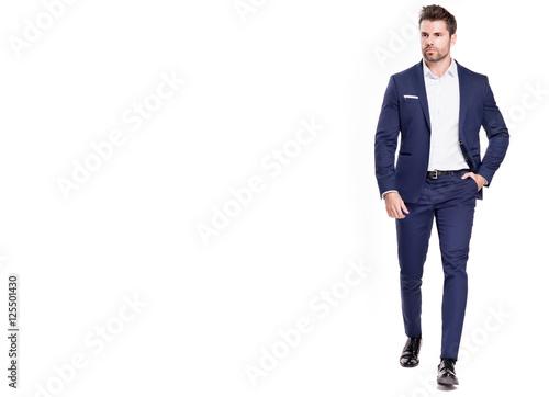 Fotografie, Obraz  Elegant handsome man in suit.