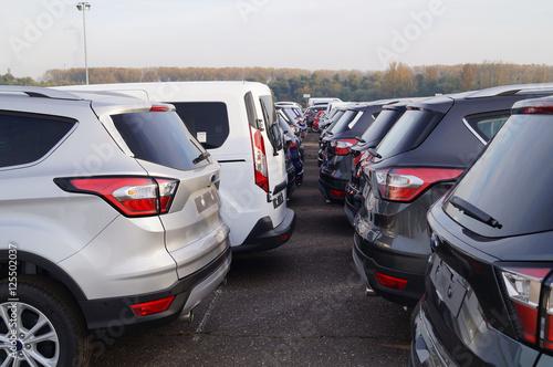 Fotografie, Tablou  Autohandel, Autoterminal