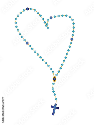 Cuadros en Lienzo Holy rosary beads, chaplet