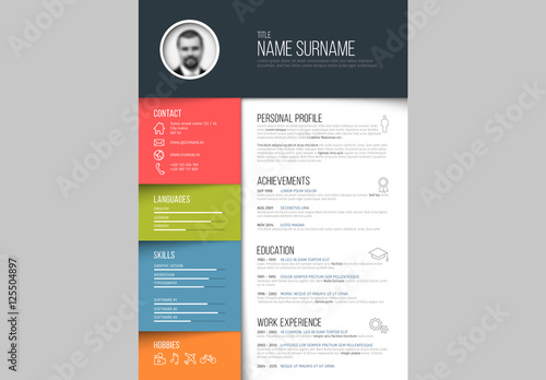 Resume Layout Portrait 1 Buy this stock template and explore