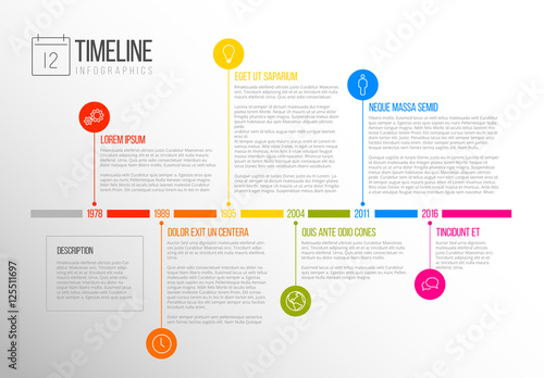 multicolored tab timeline infographic buy this stock template and