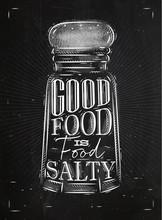 Poster Salty Food Chalk