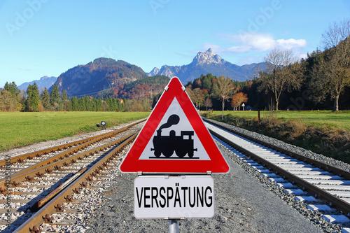 Fotografie, Obraz  Verspätung im Schienenverkehr. Verspätung bei der Bahn