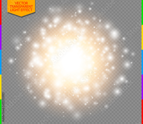 Valokuva  Abstract golden explosion with white sparks modern design